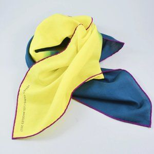 Hermes Los Angeles 2017 Yellow Blue Scarf